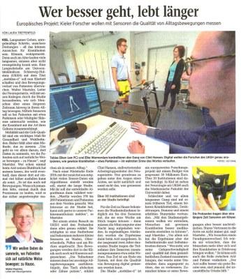 Zeitungsartikel aus den Kieler Nachrichten!